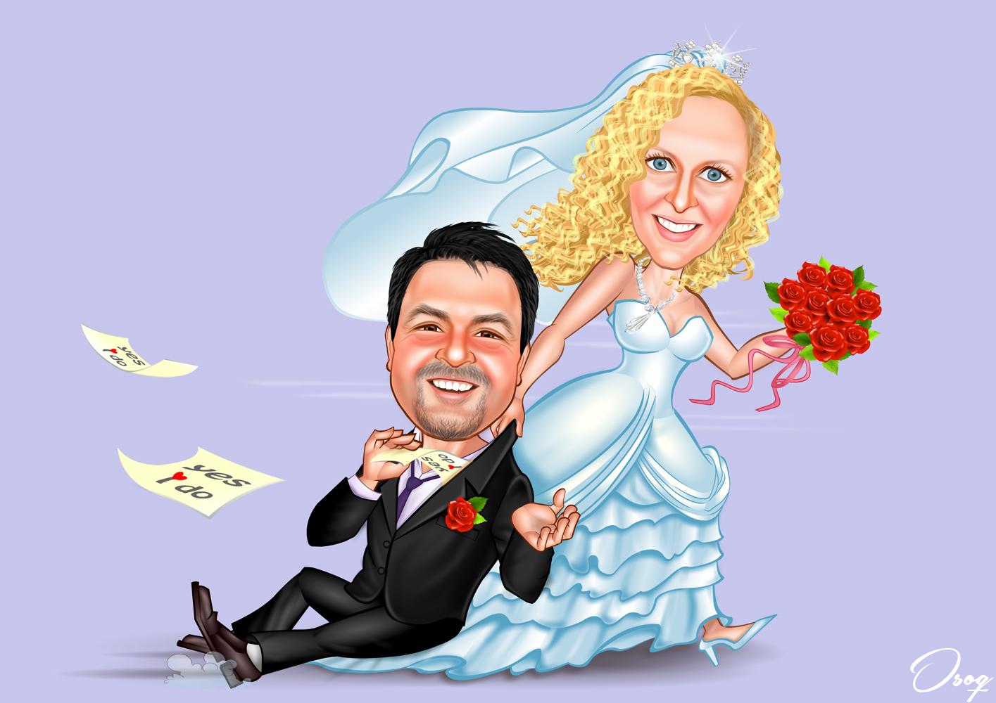 Руками, смешные рисованные картинки к свадьбе