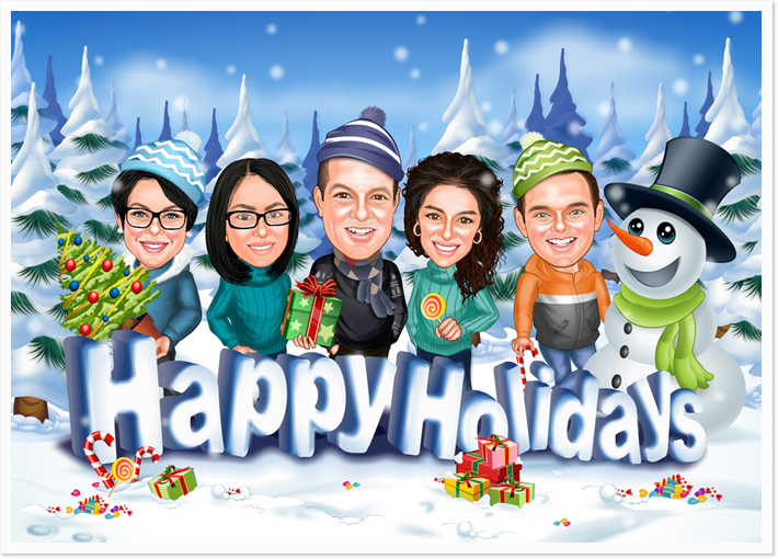 Holiday Group Caricatures Osoq Com
